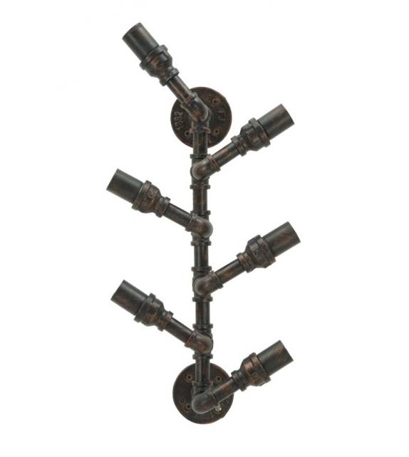 Porta bottiglie da muro manhattan 6 posti cm 27x15x60