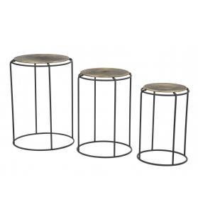 Tavolinetti roundy set 3 pz cm Ø 48x66,5-42x59,5-36x52,5
