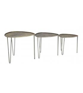 Tavolinetti delhi set 3 pz cm Ø 53,5x54x47-45,5x46x41-38x38x35