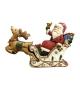 Statua legno Babbo Natale in Slitta tridimensionale