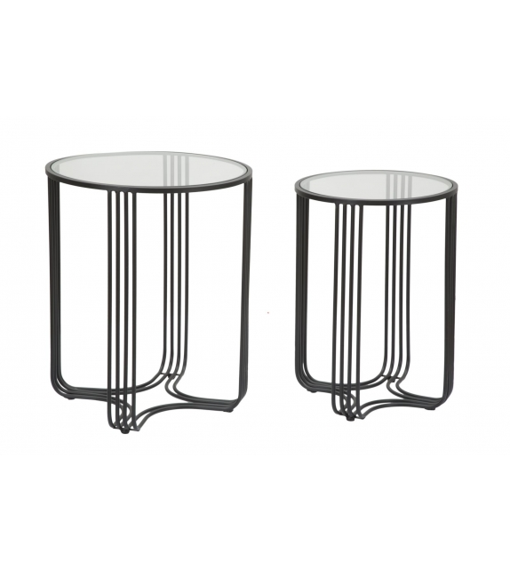 Tavolinetti dublino coppia cm Ø 50,5x61,5 - 40,5x57