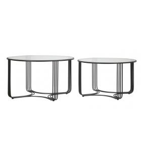 Tavoli da caffe' dublino coppia cm Ø 81x47 - 71x43