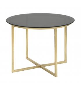 Tavolinetto da caffe' glam round cm Ø 58x43