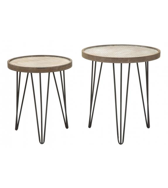 Tavolinetti arex coppia cm Ø 46x50-38x44