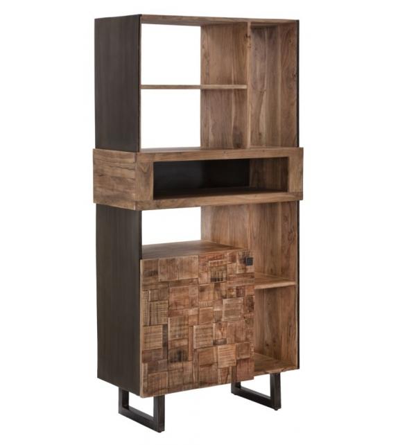 Libreria mumbai cm 88x40x177 (legno di acacia nilotica)