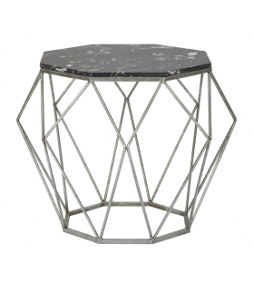 Tavolinetto diamond marble cm Ø 68x52