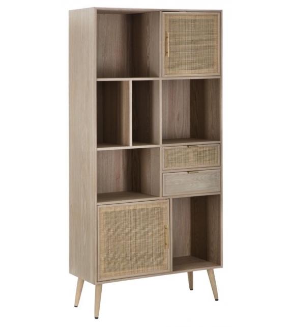 """Libreria paglia di vienna cm 90x37x189 (legno di """"populus l."""" E mdf)"""