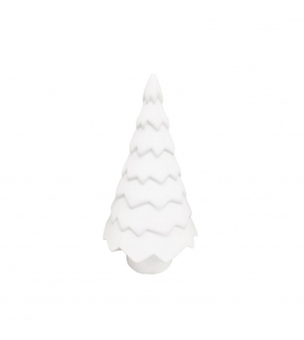 Albero Natale Porcellana Bianca Made in Italy H15 cm
