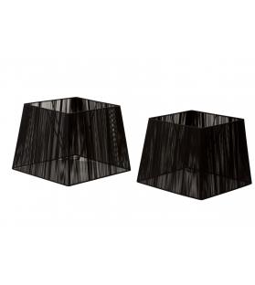 Paralumi cappelli quadrati coppia cm 35x38x28 / 32x32x26