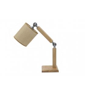 Paralume da comodino wood regolabile cm 21x37x43