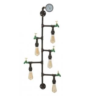 Lampada da muro manhattan 5 luci cm 50x30x105
