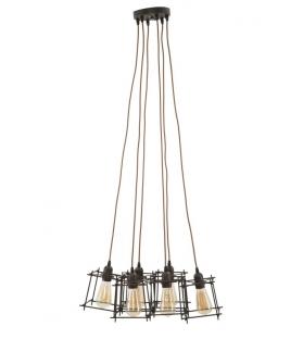 Lampadario indust stick 6 luci cm 16x16x16 (singolo)