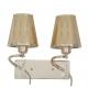 Lampada da muro glam flame doppia cm 32x18x30