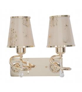 Lampada da muro glam ring doppia cm 32x18x27