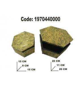 Cofanetto oro coppia cm 15x15-20x20 *******