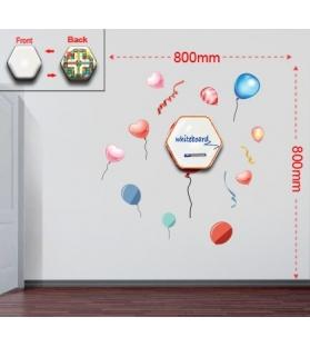 Sticker da muro baloons con lavagnetta e bersaglio cm 80x80