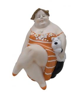 Donna dolcevita -b- cm 18x15,6x20,3