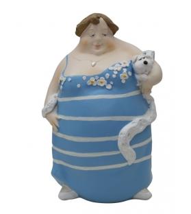 Donna dolcevita -c- cm 15,3x12,7x22,5
