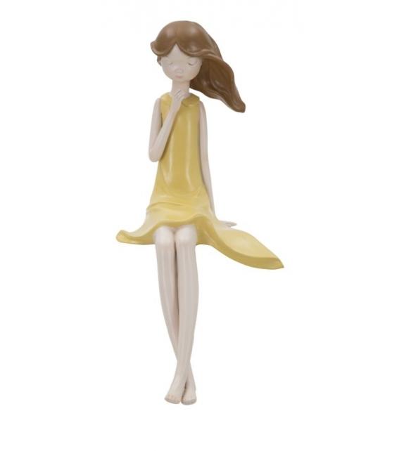 Statuetta dolly seduta -b- cm 14x19x30