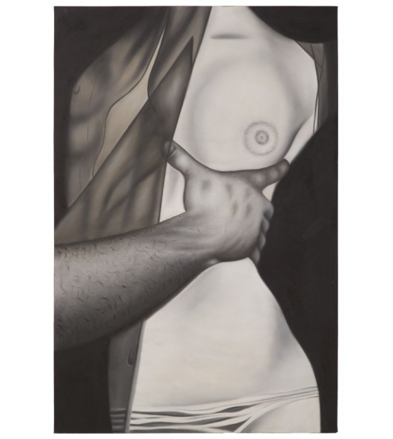 Dipinto su tela nudo abbraccio -a- cm 100x3x150