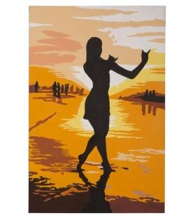 Dipinto su tela on the beach -b- cm 100x3x150