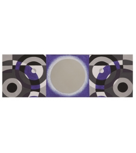 Dipinto su tela c/specchio viola -a- cm 50x3x150