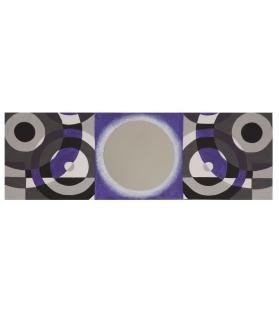 Dipinto su tela c/specchio viola -b- cm 50x3x150