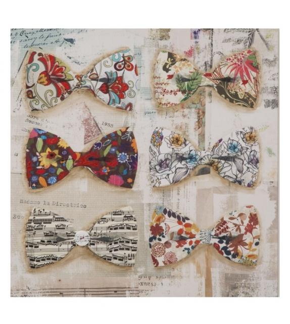 Stampa dipinta su tela papillon -b- cm 60x3x60
