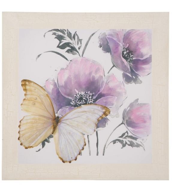 Stampa dipinta su tela flower-a cm 80x3x80