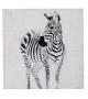 Dipinto su tela zebra- b cm 80x80