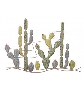 Pannello in ferro cactus -b- cm 90x2,5x64