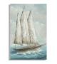 Dipinto su tela barca a vela -b- cm 80x3,7x120