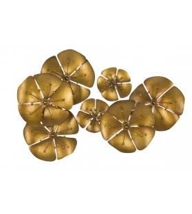 Pannello in ferro flowe goldy -b- cm 80x6x57