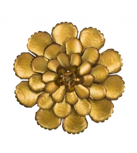 Pannello in ferro fiore goldy -a- cm Ø 64x5,5