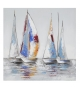 Dipinto su tela barche a vela -a- cm 60x3x60