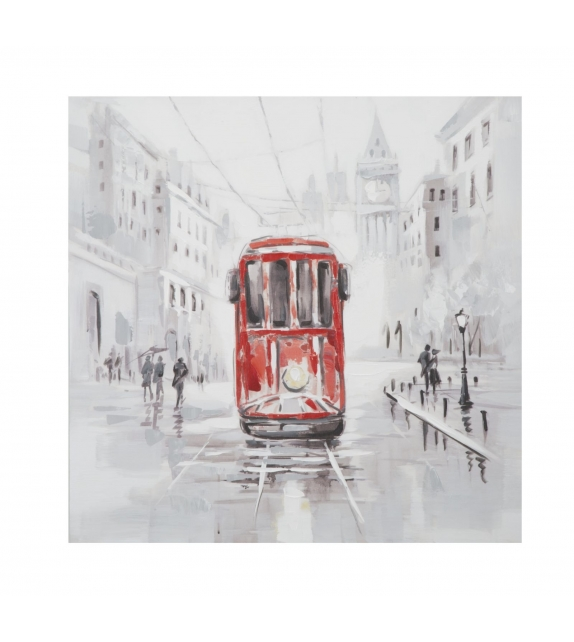 Dipinto su tela tram -a- cm 80x3x80