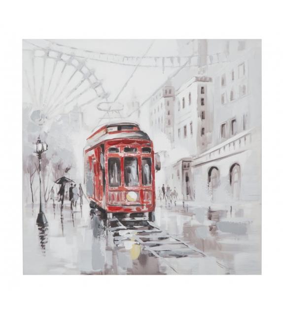 Dipinto su tela tram -b- cm 80x3x80
