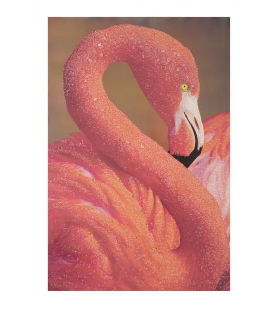 Stampa su tela con applicazioni -a- flamingo cm 80x3,8x120