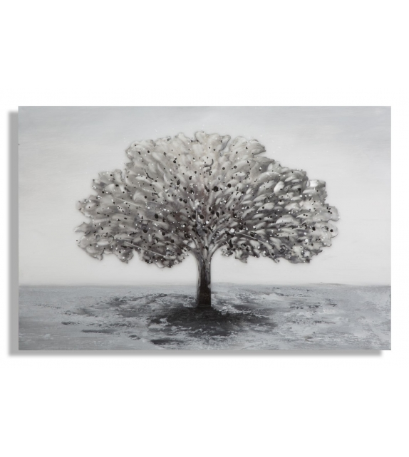 Dipinto su tela albero alluminium -b-cm 120x3,8x80