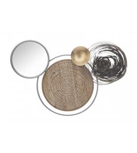Pannello in ferro c/specchio etnic -b- cm 107x8,5x77,5