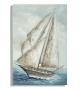 Dipinto su tela barca a vela -a- cm 80x3,7x120