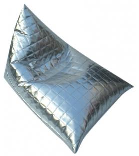 Puff pyramid ecopelle argento cm 70x88x58******