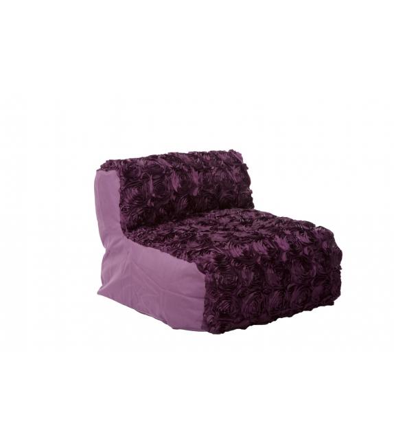 Puff large roses viola scuro cm 81x76x54 (lavabile)*******