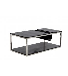 Tavolinetto da caffe' p/giornali rettangolare nero cm 120x60x42