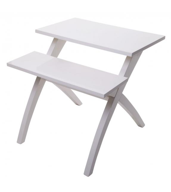 Tavolinetto 2 livelli bianco cm 60x60x60
