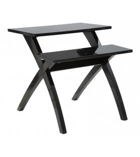 Tavolinetto 2 livelli nero cm 60x60x60