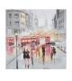 Dipinto su tela rain london -a- cm 100x3x100