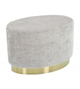 Puff goldy ovale piccolo grigio cm 52x35x35