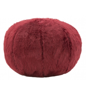 Puff plush bordeaux cm Ø 50x30