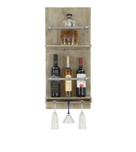 Porta bottiglie e bicchieri tube verticale cm 34x12x76 (bottiglie grappa )